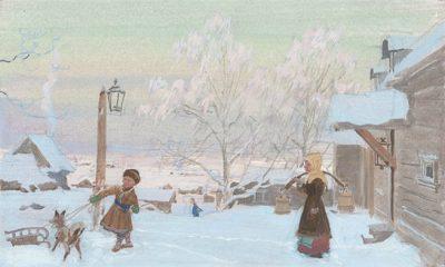 Зимой в усадьбе