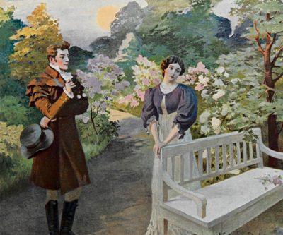 Евгений и Татьяна - встреча в саду