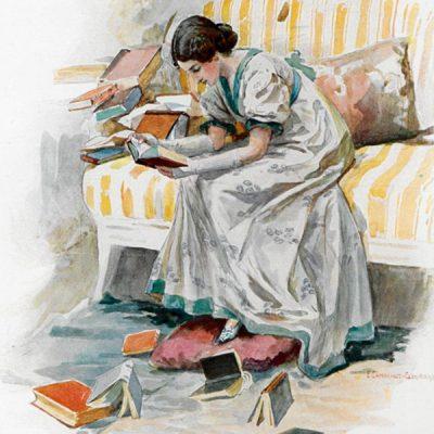 Татьяна читает книги
