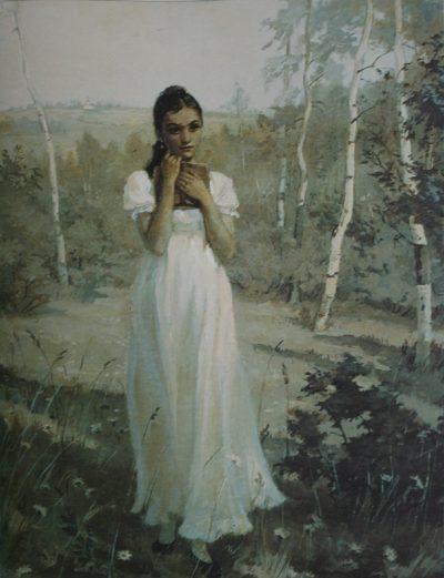 Татьяна в тишине лесов…